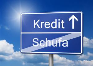 Kredit Schufa Bonitt Schild